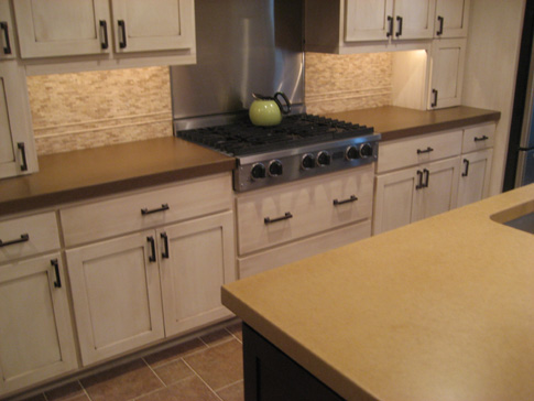 images of Kitchen concrete countertops