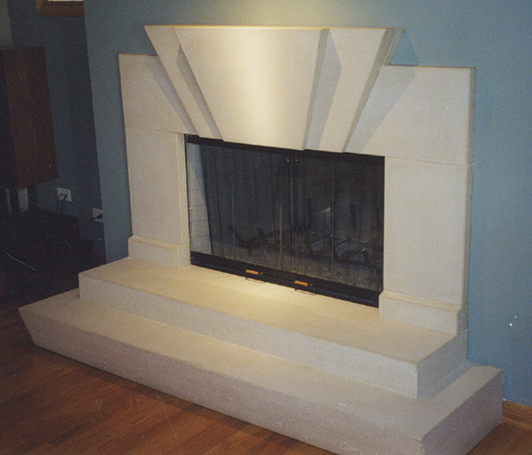 images of concrete fireplace