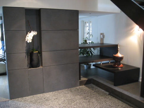 Living Room on Wall Panals And Plinth Color Charcoal Gray More In Living Room Den