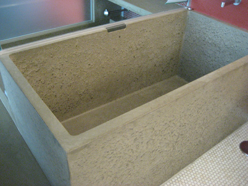 images of concrete bath tub with step