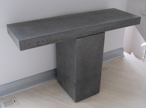 images of concrete console table