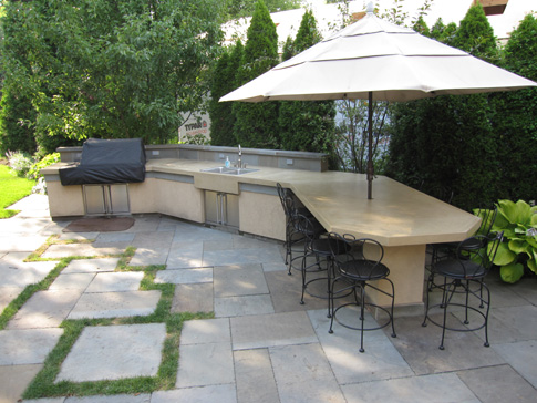 images of concrete outdoor kitchen