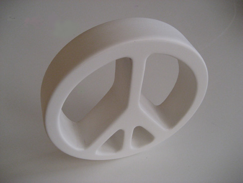 images of small concrete peace sign