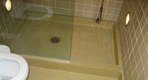 images of concrete shower base