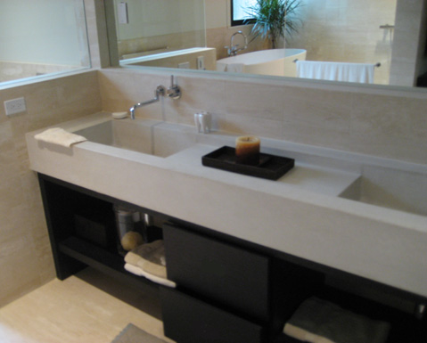 images of concrete double sink