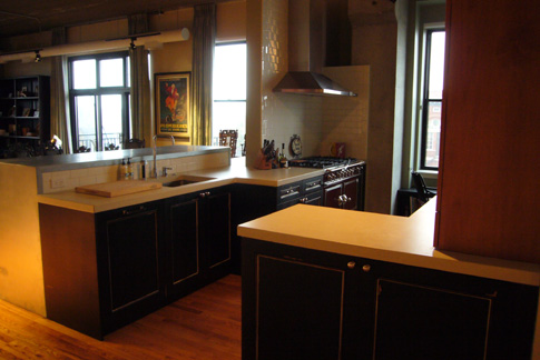 images of concrete countertops