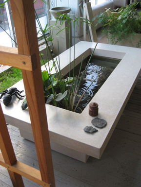 images of concrete water garden