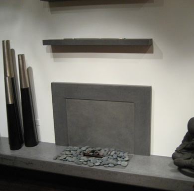 Concrete age artworks richard marks design for Denatured alcohol for fireplace